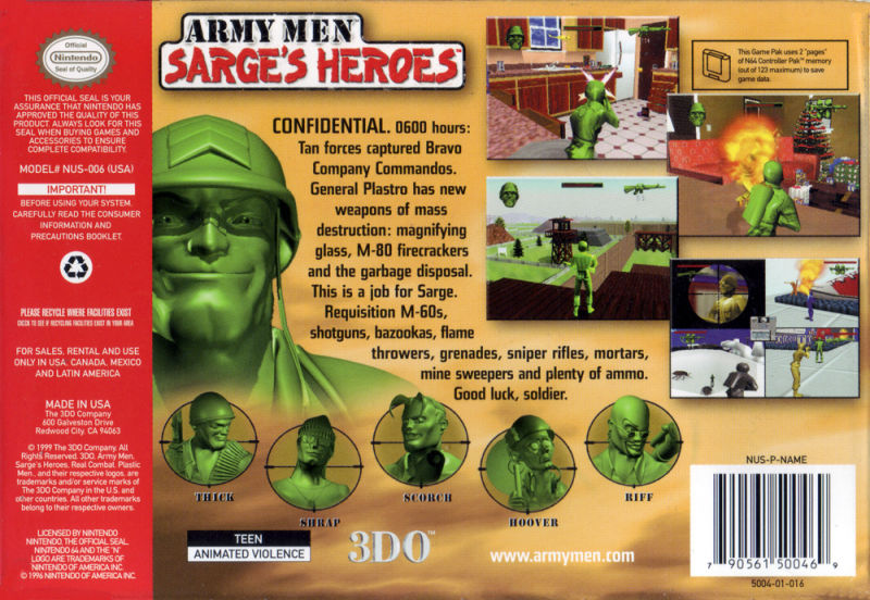 Army Men Sarge's House ปี1999